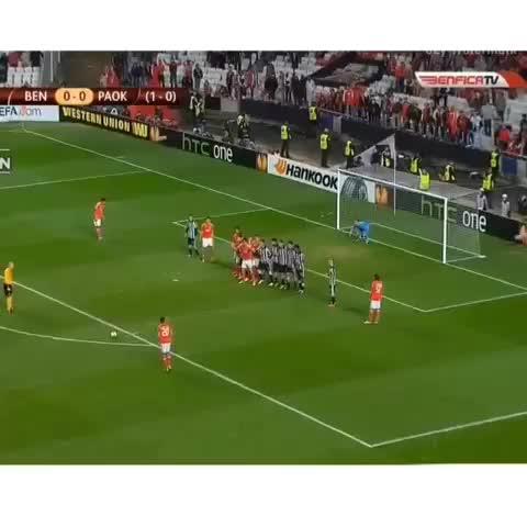 HD Soccer Goals™s post on Vine - Vine by HD Soccer Goals™ - Benficas Nicolas Gaitan scores a lob freekick, That Touch!💯 #soccer #goal #futbol #benfica #freekick #pompeii thanks so much for the #5k!✨