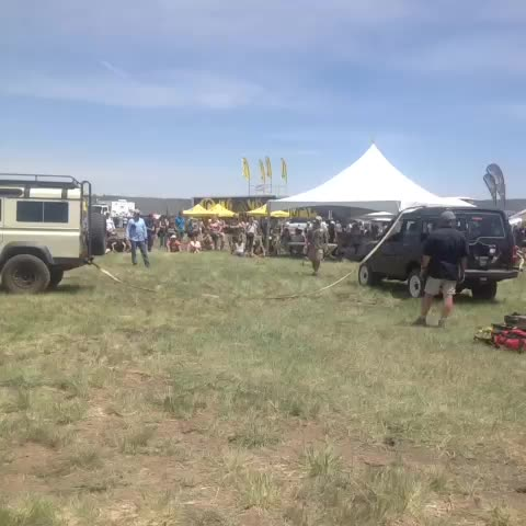 Land Rover demo: Rolling your vehicle #overlandexpo #vine