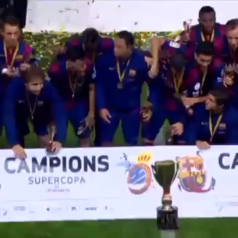 FC Barcelonas post on Vine - FC Barcelona win Catalan Super Cup #VineFCB - FC Barcelonas post on Vine