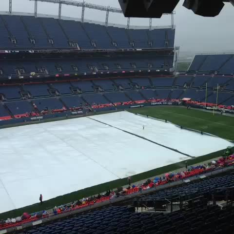 Phil Milanis post on Vine - The tarp is coming off! Walk through still set to start at 11:30. - Phil Milanis post on Vine