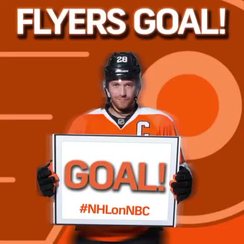 NHL on NBC Sportss post on Vine - The @NHLFlyers put one in the back of the net and tie this one up, 1-1. #RivalryNight - NHL on NBC Sportss post on Vine