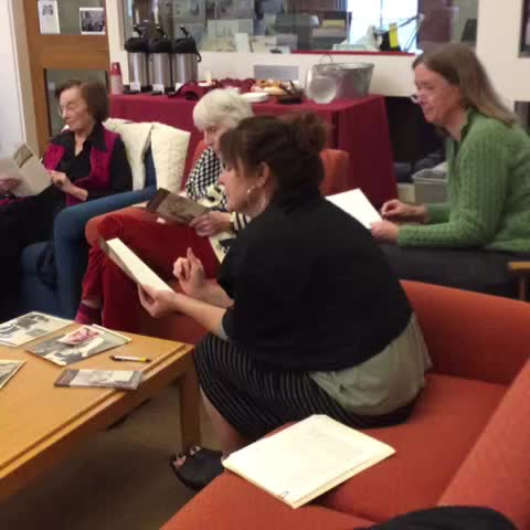 Smith College SSWs post on Vine - SSW class of 54 meeting archivists at the Smith College Archives. - Smith College SSWs post on Vine