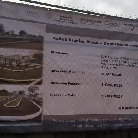 Inicia hoy rehabilitación de módulo deportivo Morelos. @americozuniga @AytoXalapa @SEDATU_mx - Miguel Valera Hernándezs post on Vine