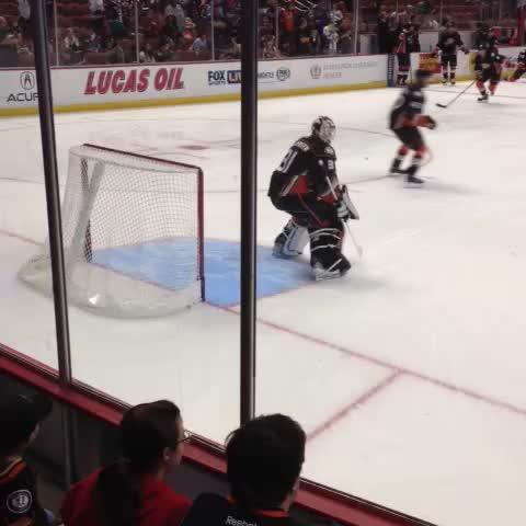 IN ANAHEIM: Tonights #NHLDucks starter, @f_andersen30. - Anaheim Duckss post on Vine