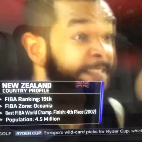 """[GIF] New Zealand performs their traditional """"Haka Dance"""", Harden & Roses faces = priceless - Rob Perezs post on Vine"""