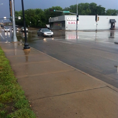 Some roads are a bit flooded after the storm this is in Madison Street #wiwx #news18 - Jacksons post on Vine