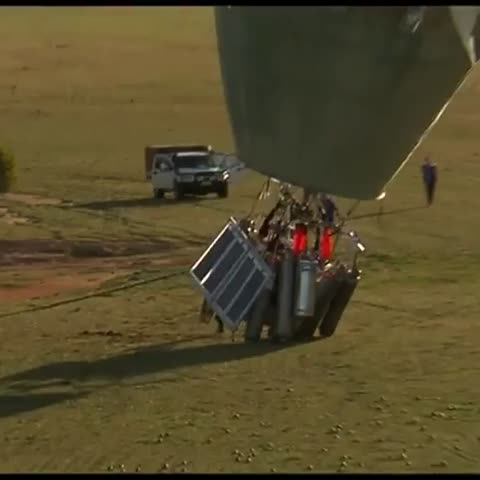 Vine by 7 News Sydney - Russian balloonist Fedor Konyukhov touches down in WA after round the world record. http://yhoo.it/2a4uX2J