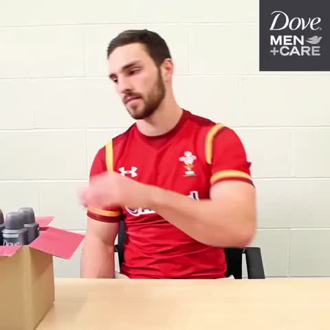 Vine by Dove Men - .@George_North is all prepped for NZ! RT & follow to win 4 tix to send @WelshRugbyUnion on their way!