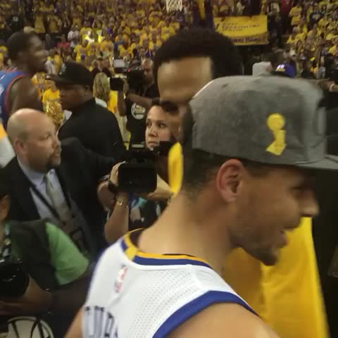 Vine by NBA - Steph Curry & the @warriors celebrate going back to the #NBAFinals!