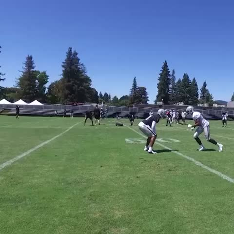 Vine by OAKLAND RAIDERS - First camp in Silver and Black...Sean Smith is making plays.