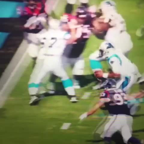 Vine by Akanimo Eyo - Everyones reaction after this play.  Carolina Panthers