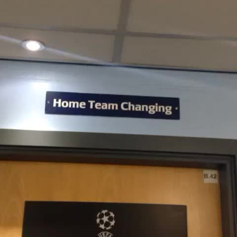 VINE: A (very) quick look around the champions of Englands changing room tonight before #cityvroma. #mcfc - Manchester City FCs post on Vine