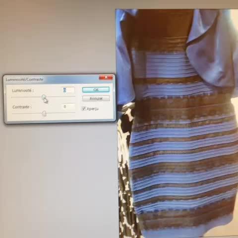 Robe bleu et noir blanche doree