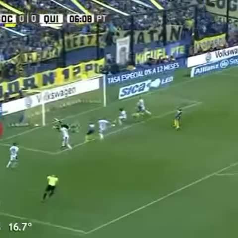 Vine by Boca Juniors - ¡Así fue el gol de Benedetto! #Boca 1 - Quilmes 0.