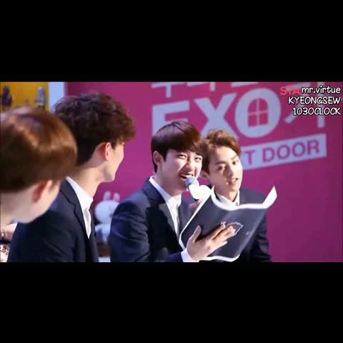 """Vine by whatif - #Kyungsoo literally has the best """"hahaha"""" laugh. #exo"""
