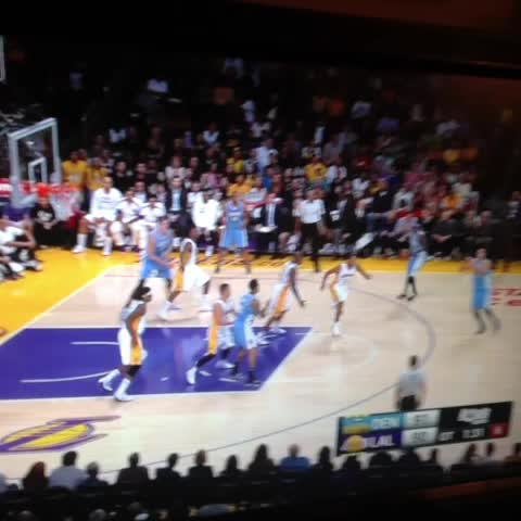 Danilo Gallinari nails a big three, teammates go nuts! #Nuggets - Nate Timmonss post on Vine