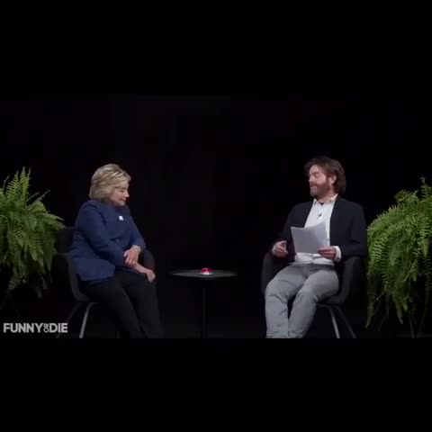 Vine by Funny Or Die - Between Two Ferns with Hillary Clinton! Watch it now on FunnyOrDie.Com