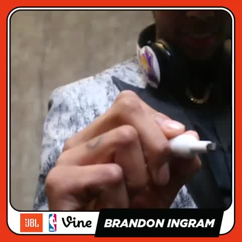 Vine by NBA - That feeling when you just got drafted! The newest @lakers, Brandon Ingram here w/ @JBLAudio. #NBADraft