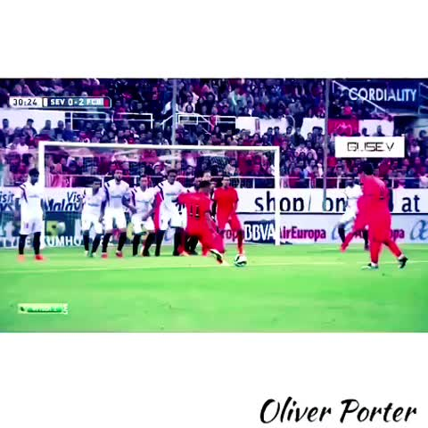Vine by Chef Porter - Neymar with this beuatiful free kick against Sevilla today!  #videoshop