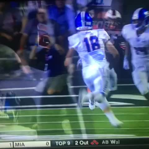 Vine by Bobby Piwowar - Tate Martell trying to hurdle all 11 defenders at once.