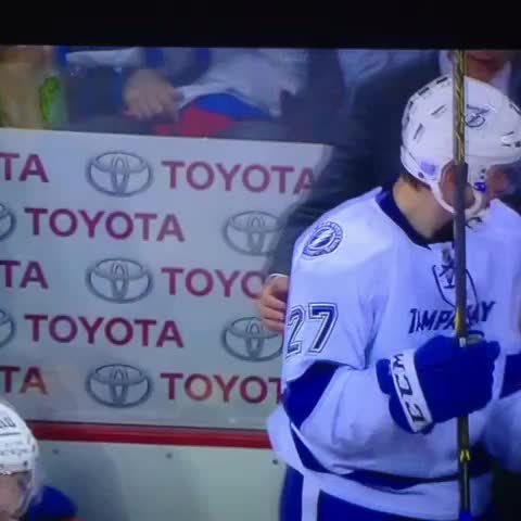 Andrew DeWitts post on Vine - Coop giving the rookie a little love after drouin scores his first NHL goal - Andrew DeWitts post on Vine