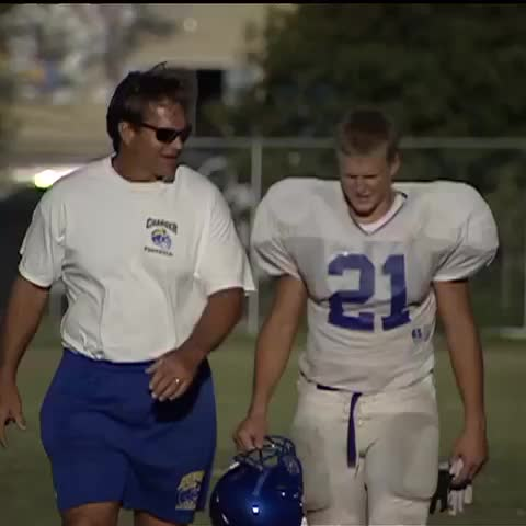 Vine by FOX Sports West - #TBT : Future NFL star Clay Matthews III (really, its him) w/ father @ Agoura HS Green Bay Packers, USC Trojans, CIF Southern Section