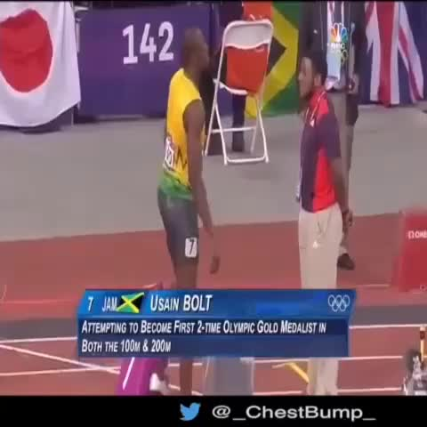 Chest-Bumps post on Vine - Usain Bolt fistbump. That smile... - Chest-Bumps post on Vine
