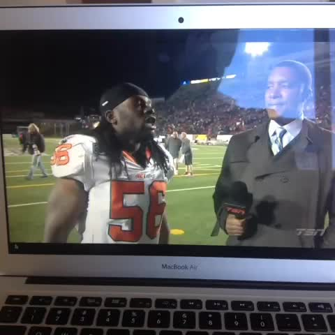 ChrisOs post on Vine - My #cfl highlight of the weekend. - ChrisOs post on Vine