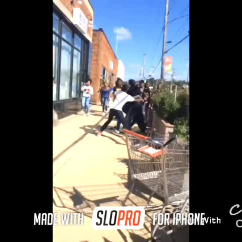Vine by Teeskiiii - Dude Jumped Over The Pile To Hit Him 😂😭💀 #Comedy #Fight