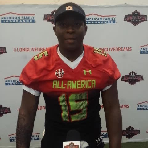 Derek Tysons post on Vine - Danfernee McGriff receiving his Under Armour All-America jersey. Has a message for #Auburn fans. - Derek Tysons post on Vine