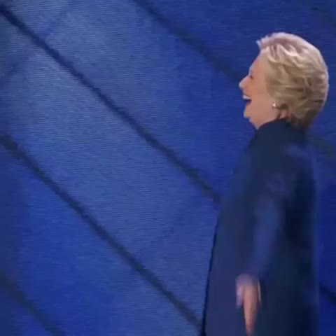 Vine by POLITICO - .@HillaryClinton joins @POTUS after his speech for a hug