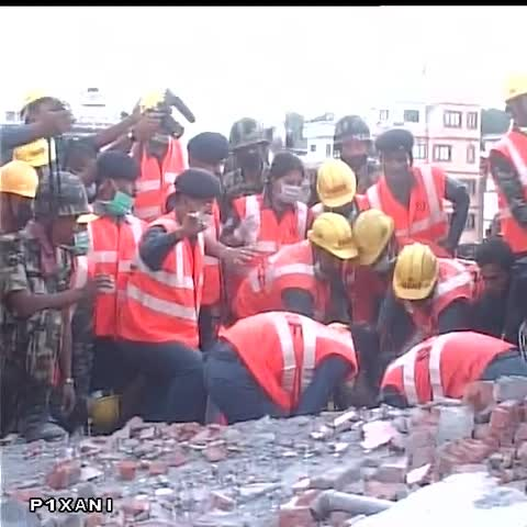 Vine by ANI - Machha Pokhari: To cheers and clapping #NDRF rescues a Nepali woman from deep rubble. #NepalEarthquake