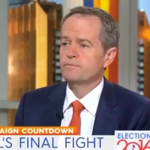 Vine by Michael James - Could watch this all day. Bill Shortens Bizarre @theTodayShow Noise. Nice on @karlstefanovic. #ausvotes