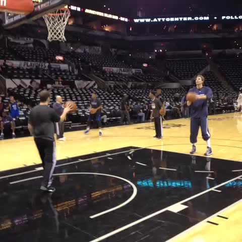 What its all about... Playoffs... #Spurs #Mavericks... Dirk and Duncan - Jabari Youngs post on Vine