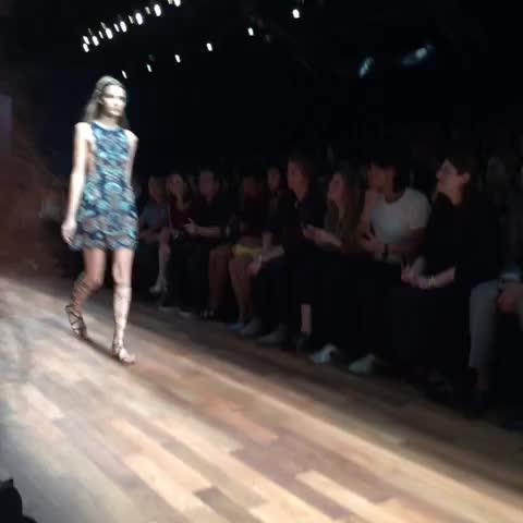First three @maisonvalentino looks: a symphony of blue #pfw - Eva Chens post on Vine