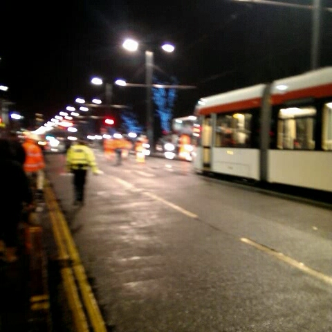 Tram on Princes Street - Edinburgh Tramss post on Vine