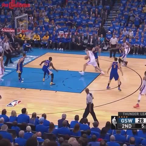 Vine by The Cauldron - Steven Adams hammers it home on Draymond Green