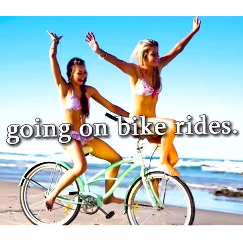 Just Girly Parodys post on Vine - Going on bike rides #justgirlythings ... FOLLOW US for MORE! - Just Girly Parodys post on Vine