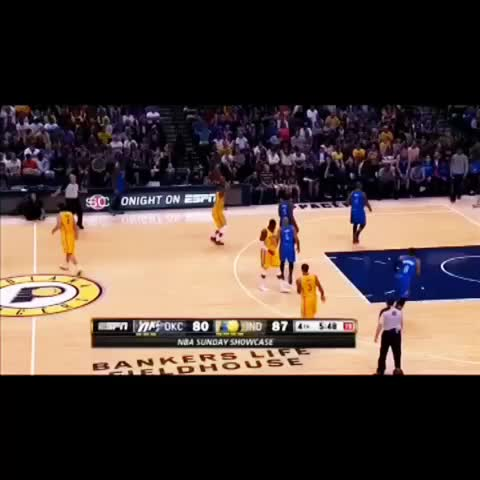 Ballislifes post on Vine - Russell Westbrook denies Pacers after the buzzer TWICE 😂😂 - Ballislifes post on Vine