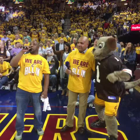 Vine by Cavs - It's a Hue & Lue era, baby! Look who's #ALLin216 HYPED for #CavsHawks Game 2. ???????? @Browns