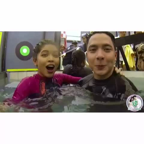 Vine by ALDUB Vines HD - Challenge Accepted (Dive-ok) 09/24/16. If someone makes you feel super loved & happy, whos to say he/she isnt right for you? #AlDub