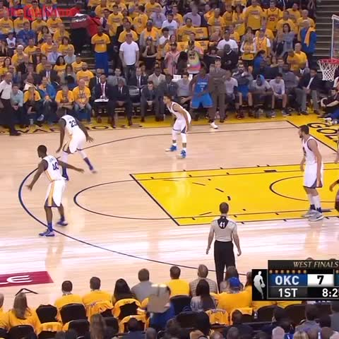 Vine by The Cauldron - Draymond Green denies Russell Westbrook's layup attempt