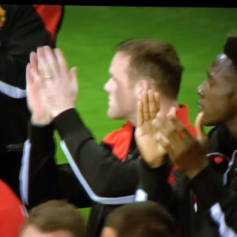 MUnitedGirls post on Vine - Rooney pats Cleverley on the back, telling him to applaud the fans -  during the lap of honour at OT end of last season.  #MUFC - MUnitedGirls post on Vine