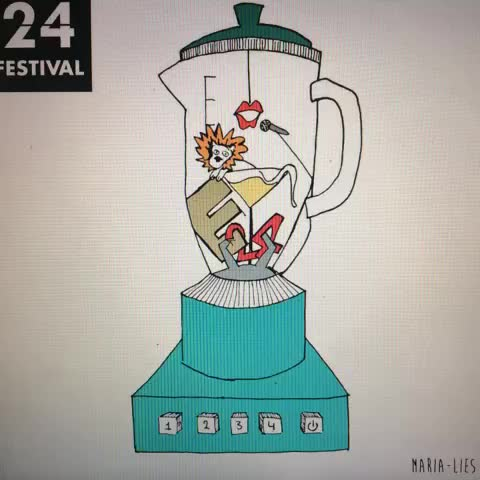 24Festivals post on Vine - Will it Blend next Tuesday? Try it yourself tijdens #24FESTIVAL - 24Festivals post on Vine