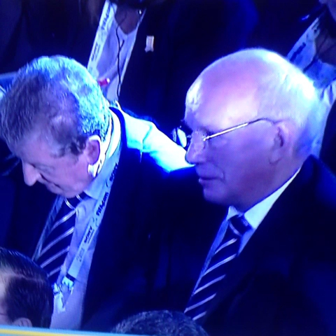 Greg Dyke shows a lot of confidence after the World Cup draw. - Huws post on Vine