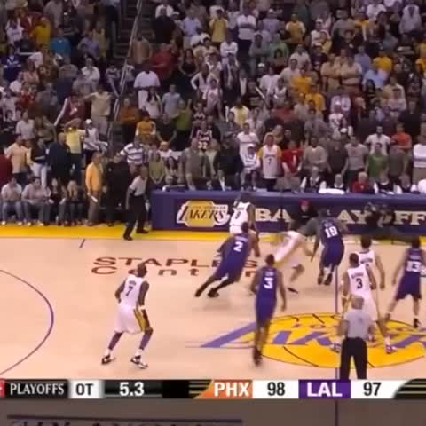 Vine by The NBA on ESPN - Kobe Bryant game-winner vs. Suns in OT at buzzer is No. 31 in #NBArank Best Playoff Vines