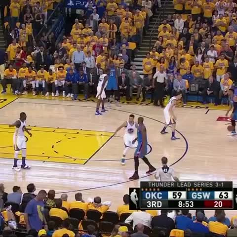 Vine by NBA - Westbrook with the quick cross! #NBAVine #WARRIORSvTHUNDER