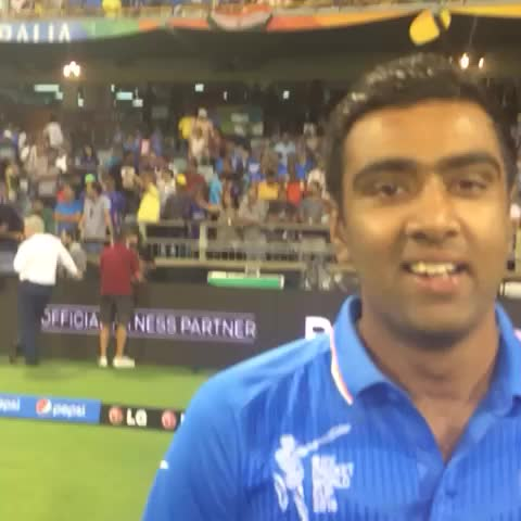 Vine by Cricket World Cup - Ravi Ashwin has a special message for #IND fans following todays win over #UAE!