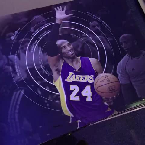 Vine by Lakers - This lucky fans @kobebryant poster came with a little something extra. Congrats!