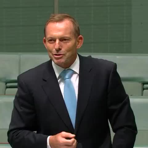 "Vine by Alice Workman - Former PM Tony Abbott jokes about ""wet dreams"" in Parliament. #auspol"